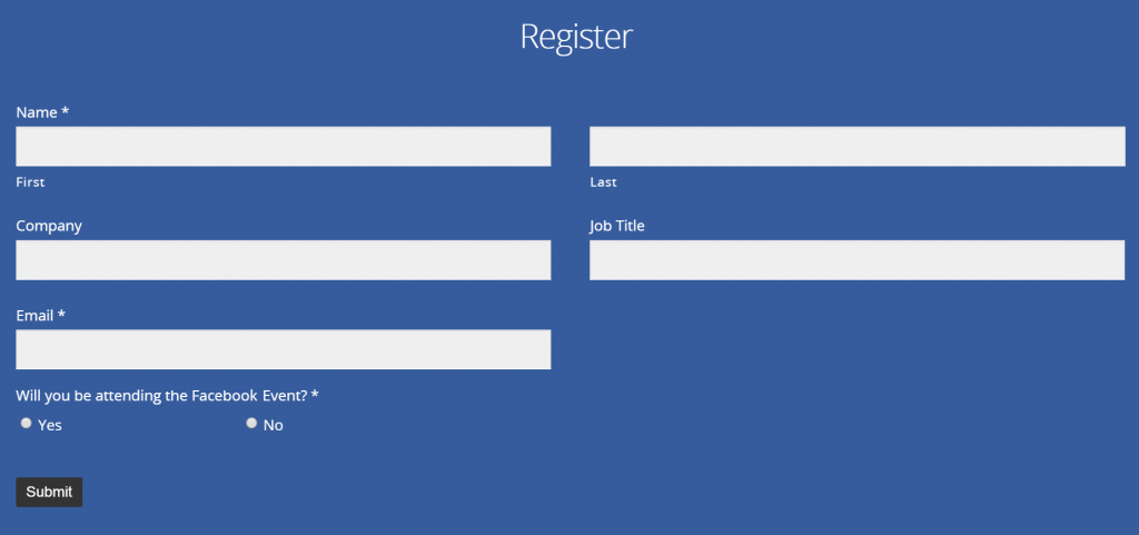 Facebook Registration