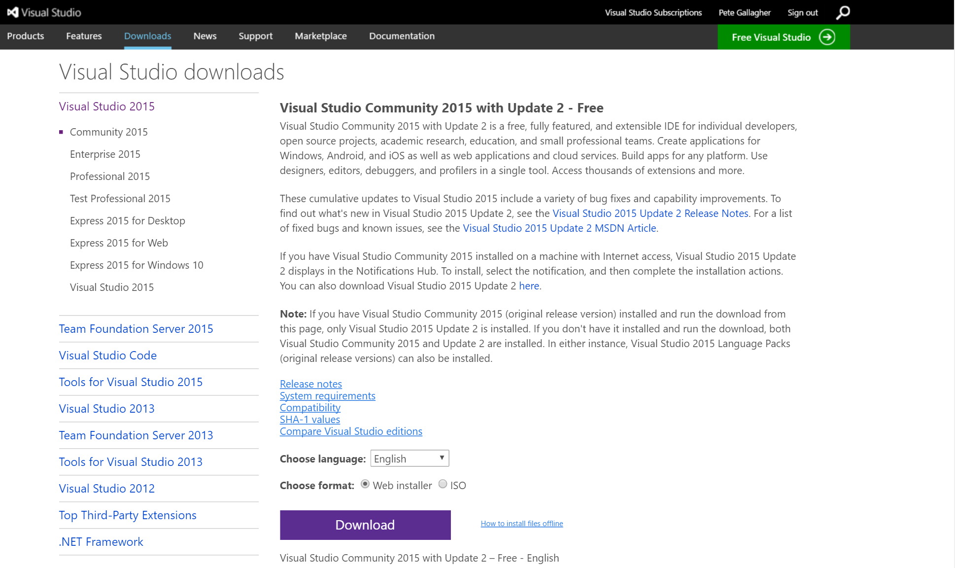 09 - Download Visual Studio